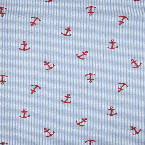 Red Anchors Gingham
