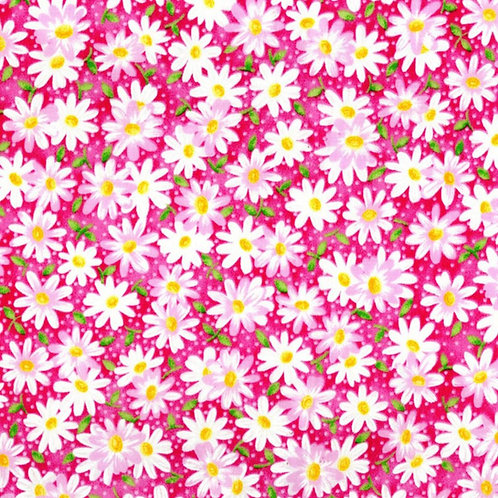 Daisies - Pink Face Mask