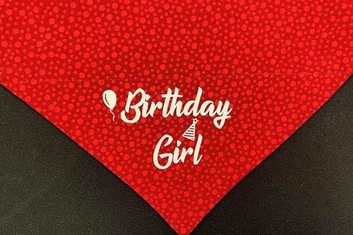 Birthday Girl - Red Circles