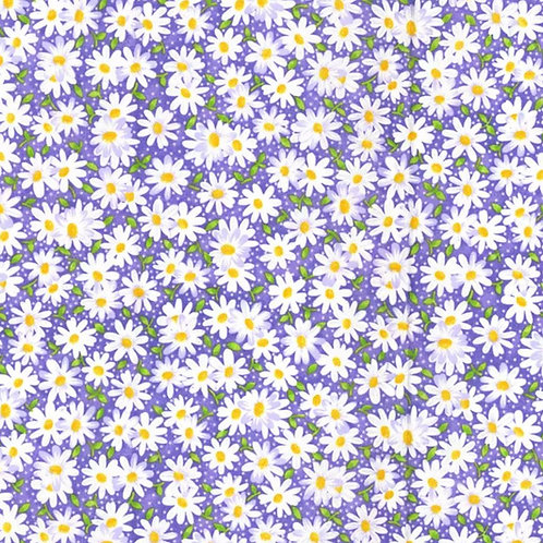 Daisies - Purple Face Mask