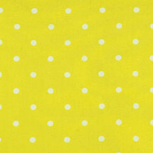 Yellow White Polk Dot Face Mask