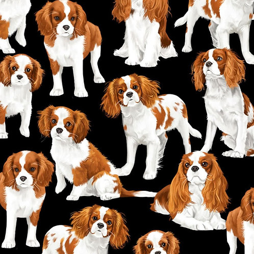 Cavalier King Charles Spaniels Face Mask