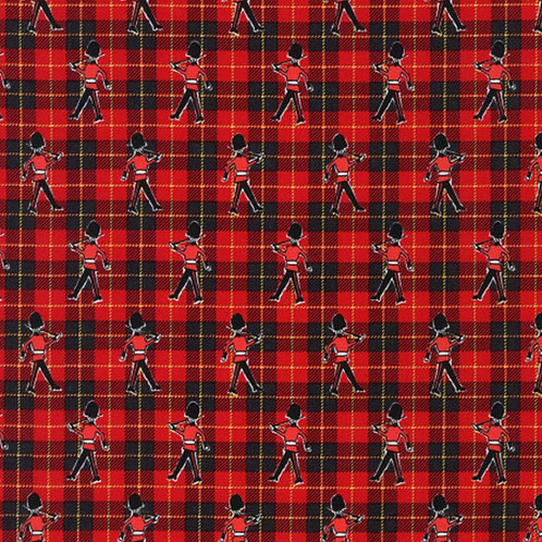 London Red Beefeaters Plaid