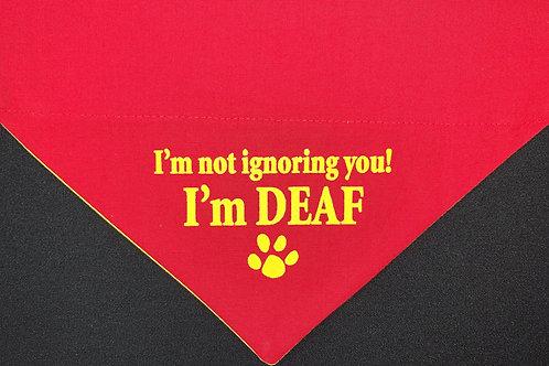 I'm Deaf - Red