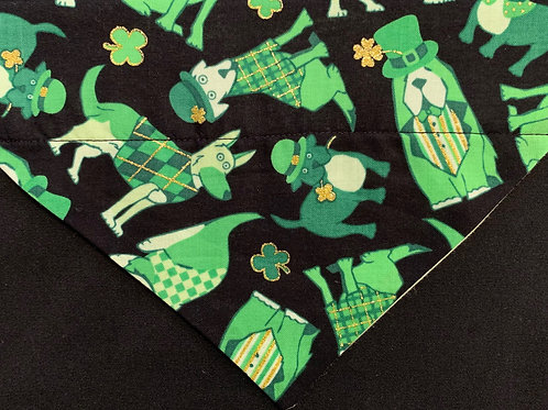 St. Patrick's Dogs with Gold Clovers