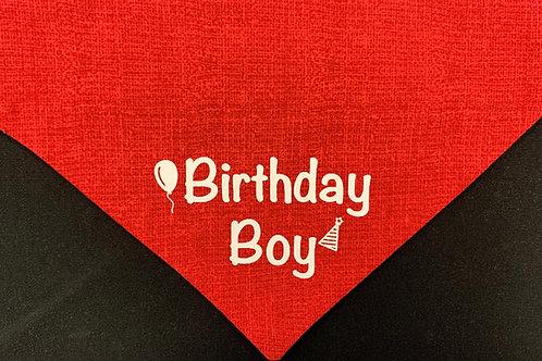 Birthday Boy - Red Burlap