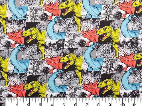 Dinosaurs Patchwork Face Mask