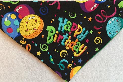Happy Birthday on Black