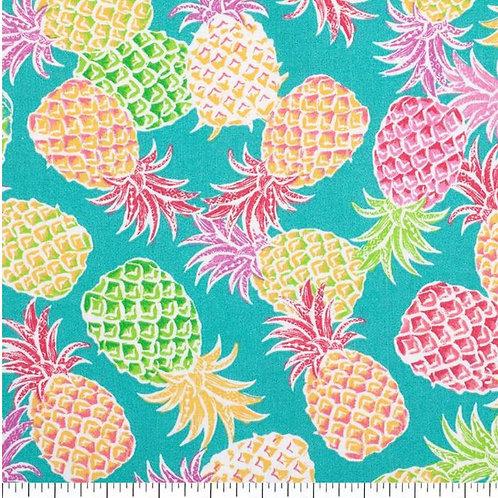 Pineapples on Aqua