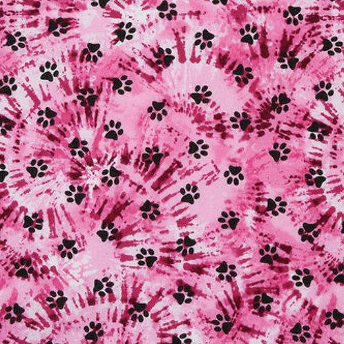 Pink Tie Dye Paws