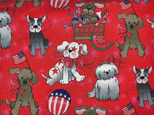 Patriotic Pups - Red
