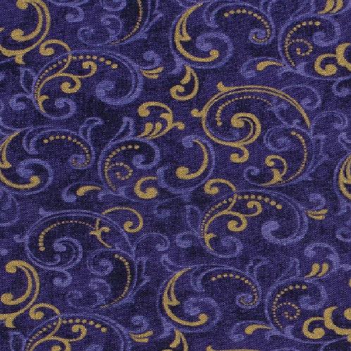 Purple Dots & Scrolls Face Mask