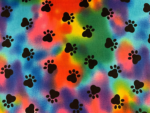 Tie Dye Paws Face Mask