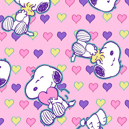 Snoopy Love - Pink Face Mask