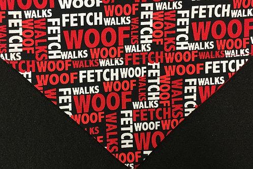WOOF - Red & Black