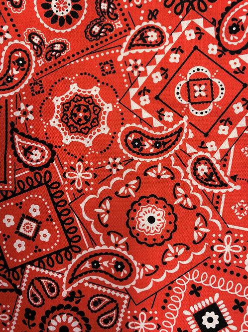 Red Bandana Face Mask