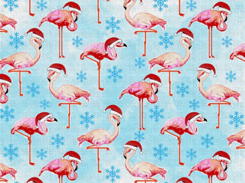 Flamingo Winter Face Mask