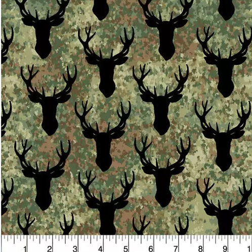 Stag Head on Camo