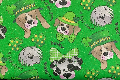 St. Pat's Day Pups Face Mask