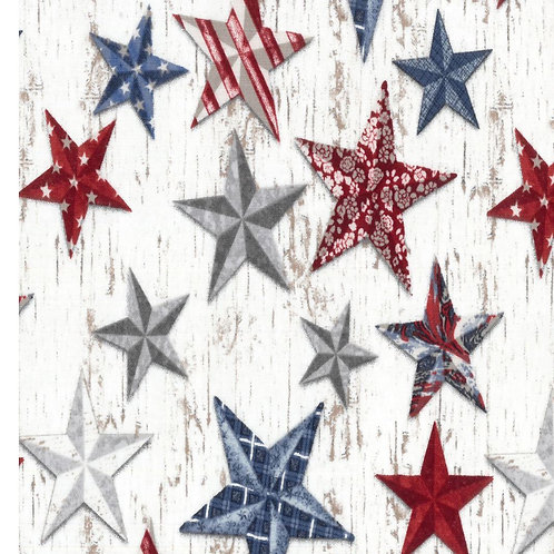 Antique Patriotic Stars