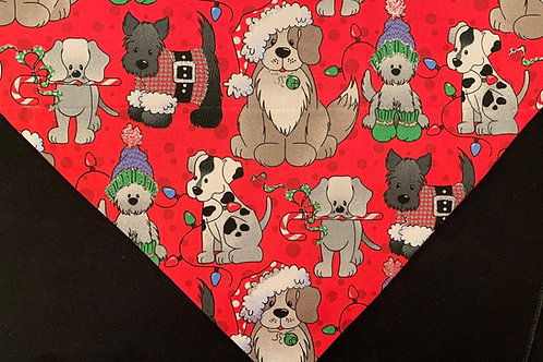 Sparkly Christmas Dogs - Red