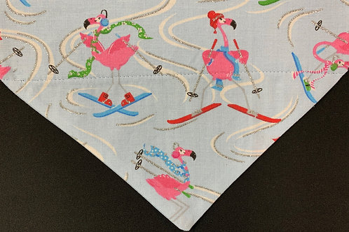 Skiing Flamingos
