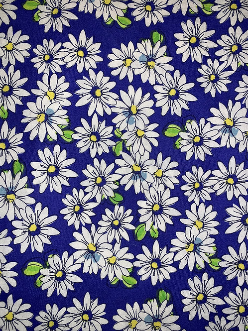 Daisies on Blue Face Mask