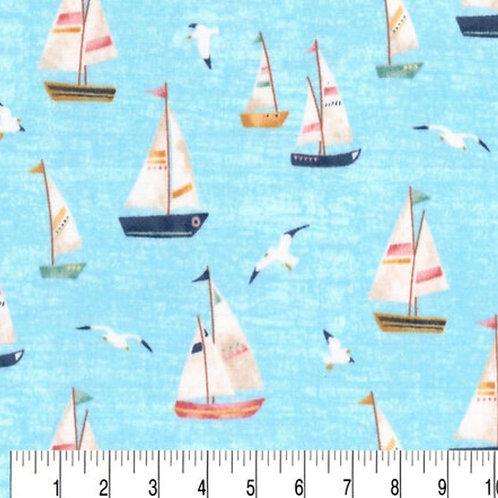 Sailboats on Blue
