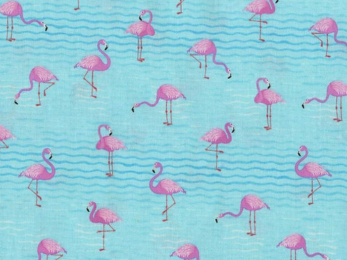 Flamingos on Water Face Mask