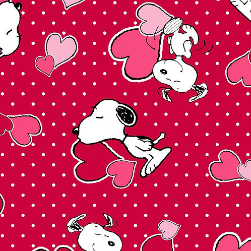 Snoopy Love - Red Face Mask