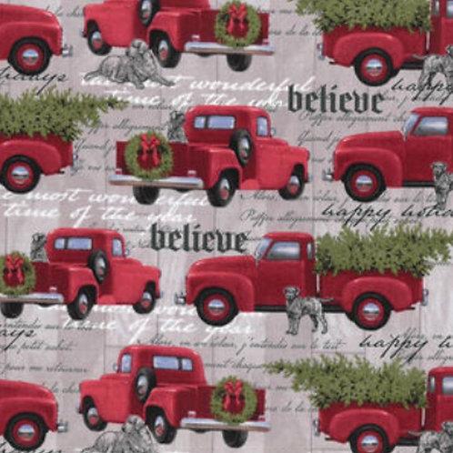 Gray Hounds & Red Trucks