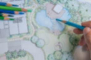 layout plan of home landscape design or