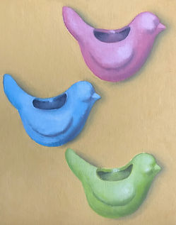 Bird Vase Painting