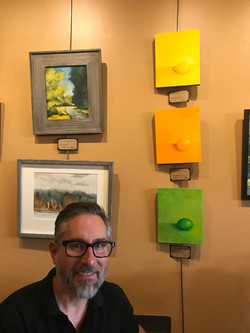 Paintings on display at Local Color Show (Seattle, WA)