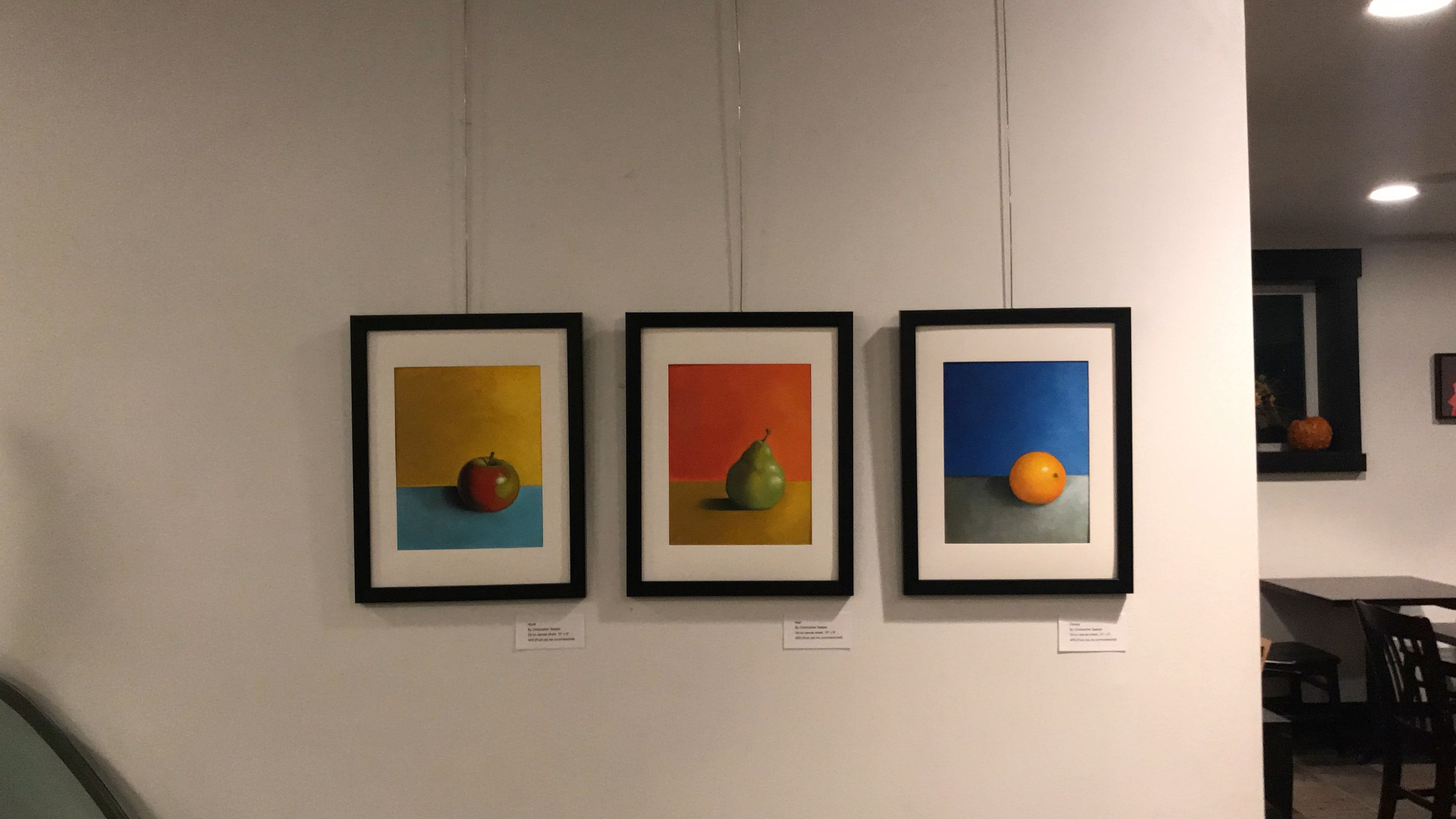 Apple, Pear, Orange Paintings