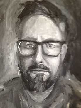 man portrait painting
