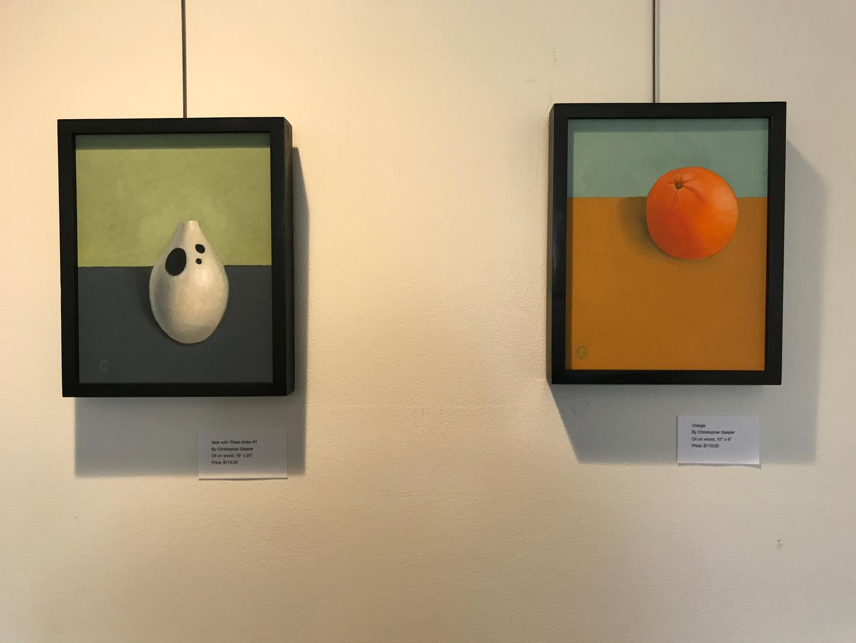 Vase & Orange Paintings