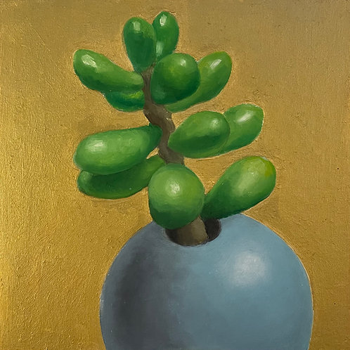 Plant with Gold Background