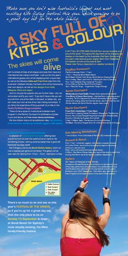 Bondi Kite Festival brochure