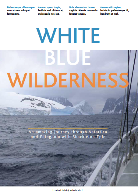 White Blue Wilderness magazine