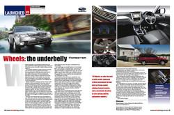 Wheels Magazine layout