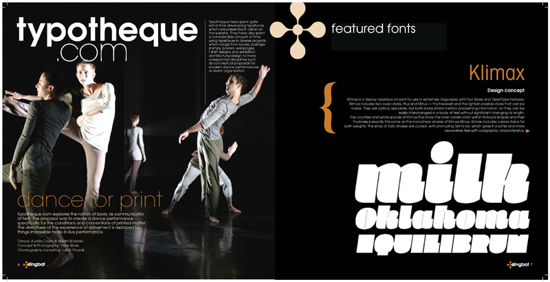 Typography magazine layout