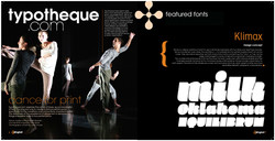 Typography magazine layout