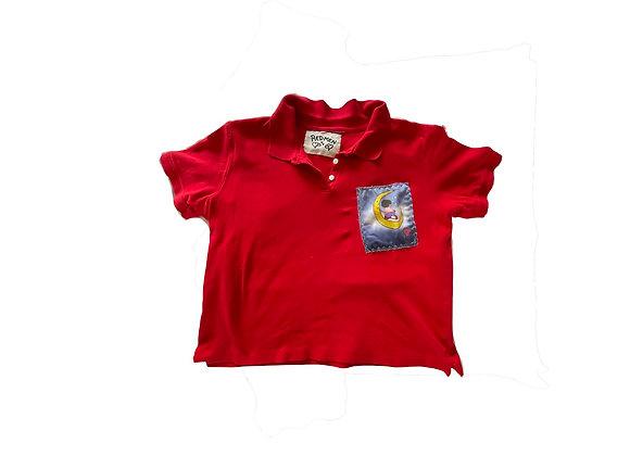 Moon girl collar shirt