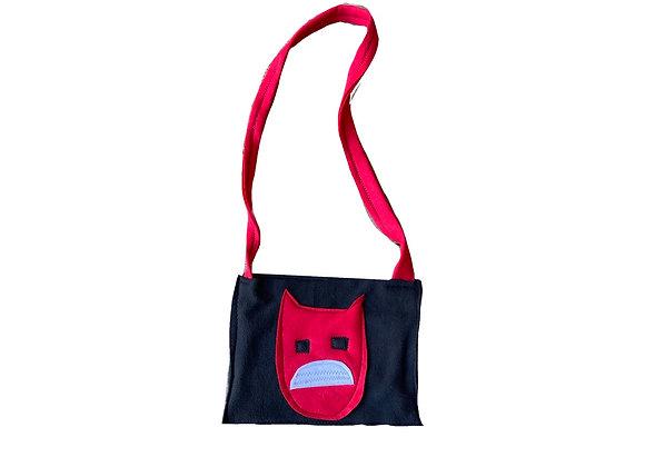 Sad demon boy bag