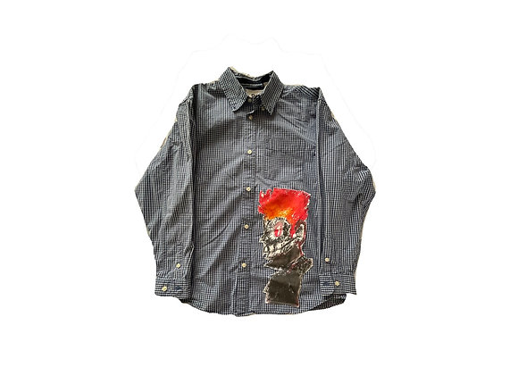 Flame boy button up