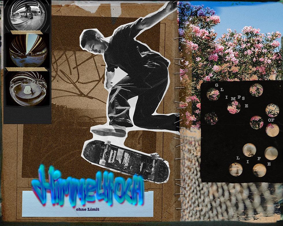 Himmelhoch Mixed Media Collage Ina Moana