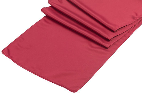 Apple Red Lamour Satin Table Runner