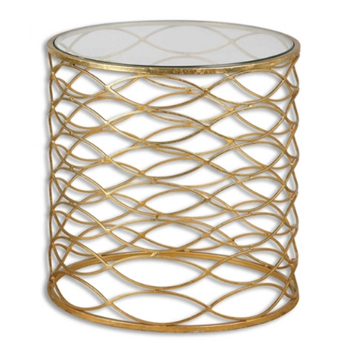 Bradshaw Gold/Marble Side Table