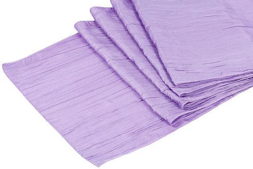 Victorian Lilac Accordion Crinkle Taffeta Runner